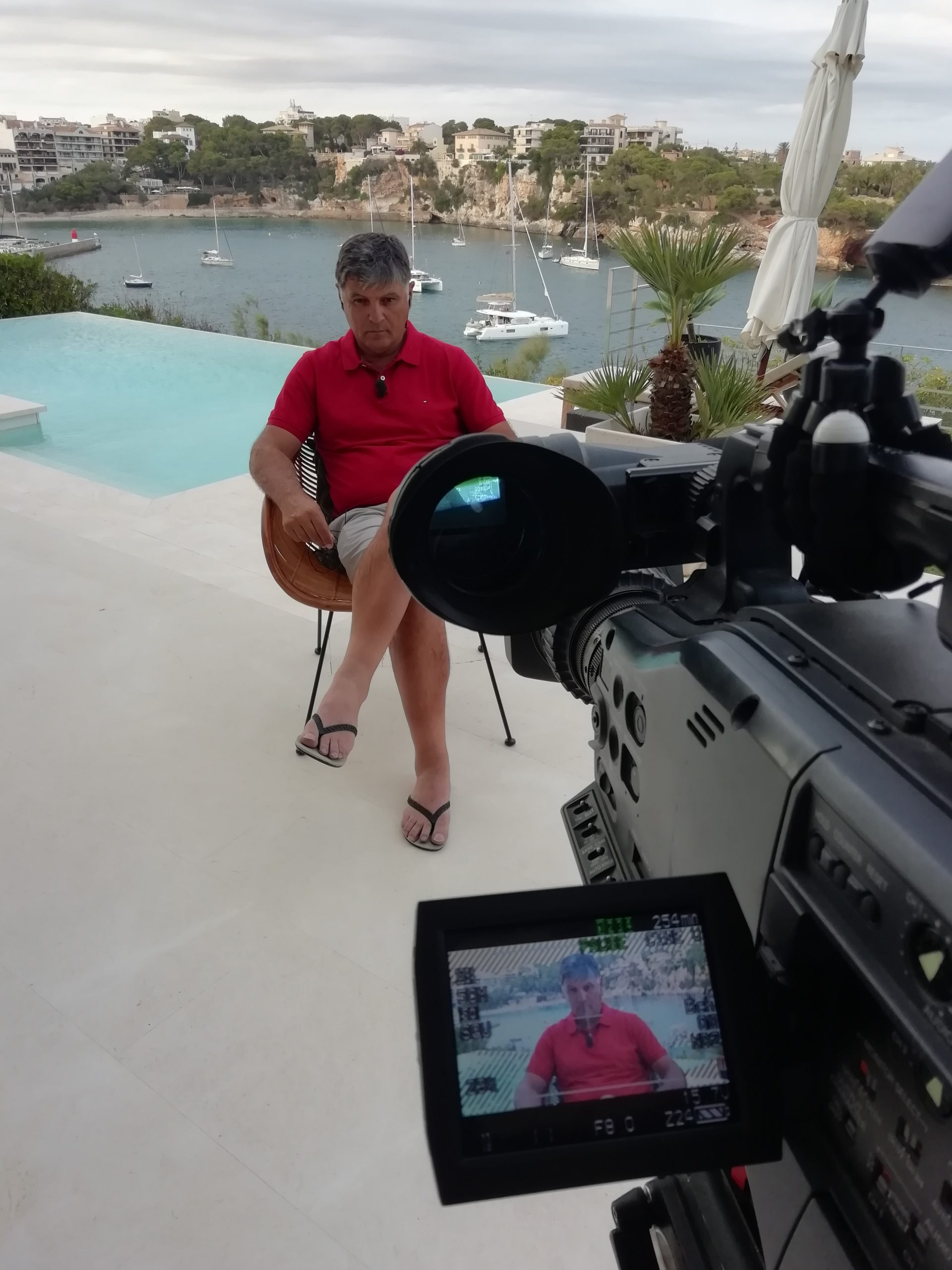 Toni Nadal interview EngTvMedia sports camera operators Mallorca